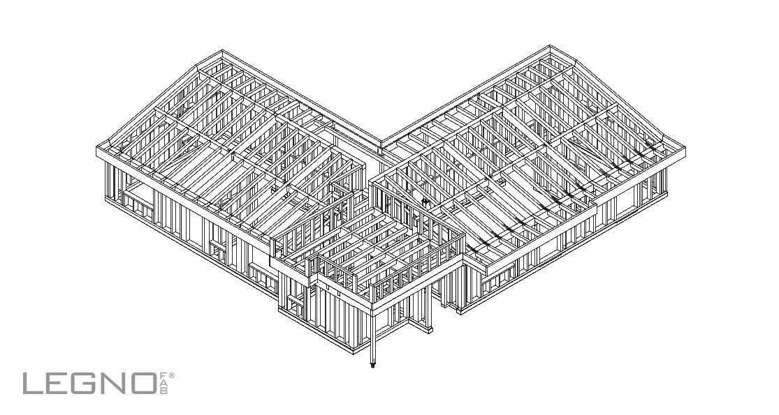 Casa in legno monopiano a telaio